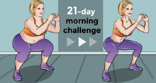 21-Day Morning Challenge That Can Help You Reduce Fat