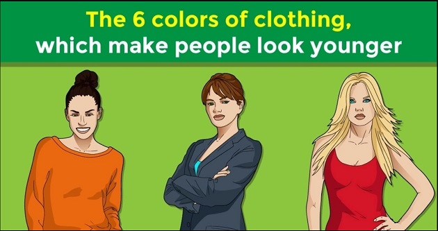 The 6 colors of clothing, which make people look younger